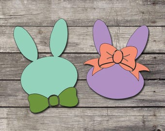 Boy/Girl Easter Bunny Decal | Easter Decal | Bunny Decal | Laptop - Car - Yeti - Phone Decal | Vinyl Decal