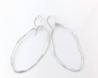 Silver Hoop Earrings, Silver Earrings