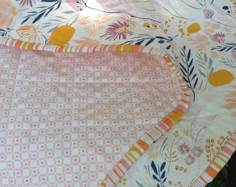 Morning Walk Girl Baby Quilt--Ready to Ship