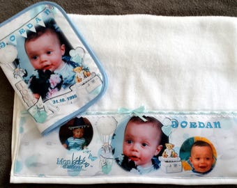 towel personalized with baby photo