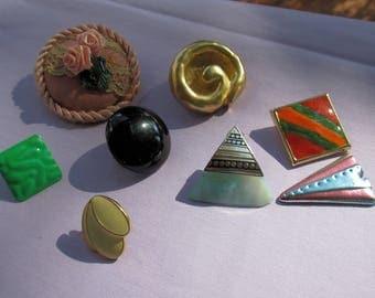 Lot Of Single Odd Earrings Plus Broken Jewelry Piece
