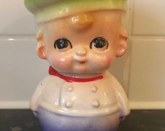 Vintage Kitschy Chef Novelty Egg Cup
