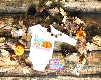 Pumpkin Patch Princess/Pumpkin Onesie/Pumpkin Outfit/Newborn/Toddler/Girl/Halloween Shirt/Onesie/Bodysuit/Photography Prop/Princess Shirt