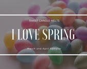 Wax Melts Sampler- I love Spring Wax Melts Cups Sampler- Handpour Wax Melts
