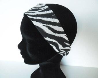 Bandeau femme zébré noir et blanc
