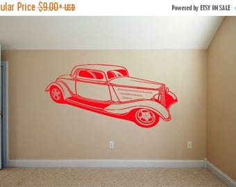 EVERYTHING IS 20% OFF Hot Rod Wall Decal Man Cave Decor Wall Decor Bedroom Decals Wall Stickers Wall Art