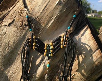 Native American Made Breastplate Necklace