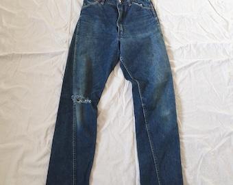 Vintage 1950's Denim / Wrangler Blue Bell Jeans / 26x29 / 60's / 50's