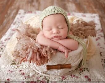 Newborn Prop Hat, Newborn Girl Hat, Photography Knit Baby Photo Hat, Newborn Girl Hat, Bonnet, Baby Girl Photo Prop Hat