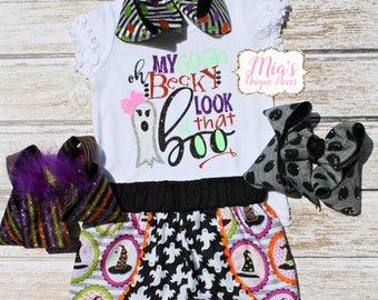 Halloween Toddler, Halloween Costume, Halloween Shorts, Halloween Shirt, Glitter shirt