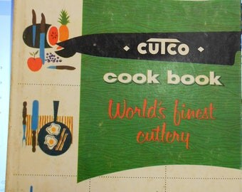 Vintage Cutco cook book World's finest cutlery! 1961 copyright