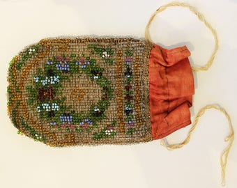 Small Beaded Victorian Bag