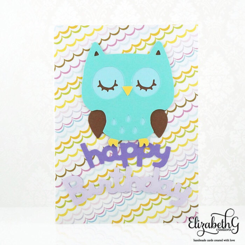 Kids Birthday Card Birthday Cards Handmade Cute Owl Cute Birthday