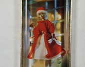Classic Barbie Red Coat Fur Trimmed Hat Shopping 1960s Mattel The Republic of Kalmykia Russia Pendant or Key Ring Genuine Postage Stamp