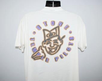 1993 Stone Temple Pilots Vintage Core Era Classic 90's Alternative Rock Grunge Band Album Promo Concert Tour T-Shirt