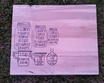 Cutting Board- Measurements