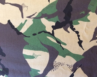 CAMOFLAGE ,on COTTON  Lawn  1m x 150 cms (39 ins x 58 ins)