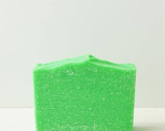 25% OFF CLEARANCE SALE Aphrodisiac Soap   Citrus + Energizing Scented Palm Free Salt Bar, Handmade Sea Salt Soap, Green Cold Process Soap, V