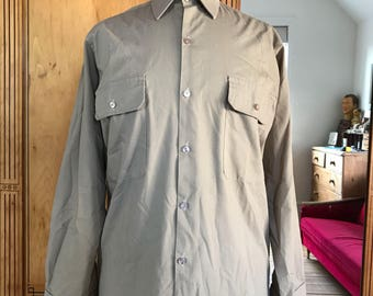 Vintage Scout Association Mens 1970s Shirt 14.5 Collar