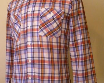 HAPPY SUMMER SALE Vintage Genuine Roebucks Button Down Shirt