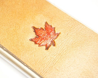 Leather iPhone 8 Plus Case | Autumn Maple Leaf