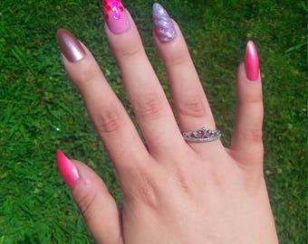 Pink Unicorn Nail Set