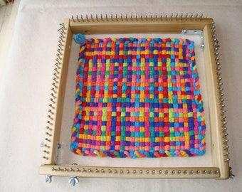 """10"""" Jumbo Size Potholder Weaving Loom - loops -  Cottage Looms"""