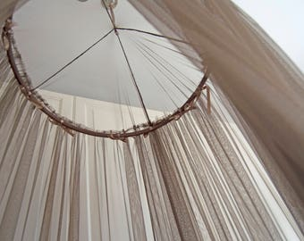 Taupe Brown Baldachin -  Play Canopy, Crib Canopy, Kids canopy, Nursery canopy, Bed canopy, Play room canopy, Hanging Canopy, Nook, Photo