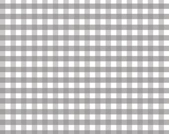 Gray Gingham by Riley Blake Designs, grey fabric, gray fabric, squares, fabric by the yard, summer fabric, fabric, gingham, checks
