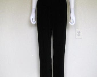 ON SALE Black Slinky High Waist Pants - small