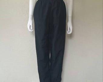 "25% off SALE Black high waist nylon swishers 25"" waist Small women's"
