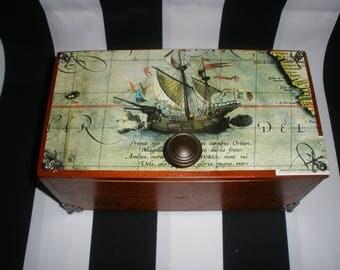 Gasparilla Cigar Box Valet, Pirate, Booty Box, Watch Box,  Stash Box, Tampa, Authentic