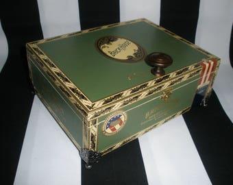 Green Brick House Cigar Box Valet, Watch Box, Stash Box, Guy Gift, Groomsman Gift, Authentic, Tampa