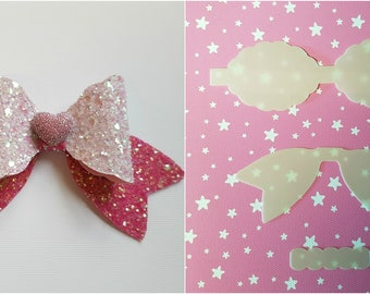 Hair bow plastic templates, make your own beautiful Hair bows 5 sizes, set, The 'Always' Bow