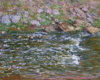 "Claude Monet : ""Rapids on the Petite Creuse at Fresselines"" (1889) - Giclee Fine Art Print"