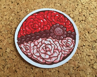 Pokeflower sticker - Pokeball