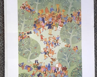 "Alaskan Artist Rie Munoz ""Concert in the Park"" Limited Edition Print"