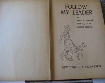 50% OFF Follow My Leader Children's Book by James B. Garfield 1958 Edition