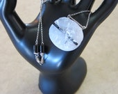 Black Tourmaline in Quartz Pendant Necklace, Collector's Piece - Earth and Storm Elements - by Silla - BTQSSPN1
