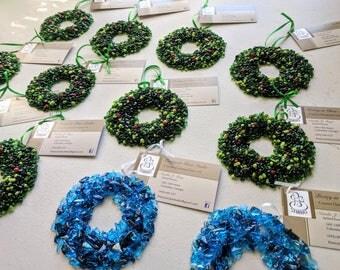 Christmas wreath ornaments