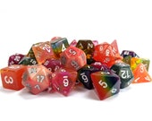 RPG Dice Palette | Elemental | Polyhedral Dice Set | Dungeons and Dragons | Pathfinder | Role Playing Dice | RPG | Gift for Geeks