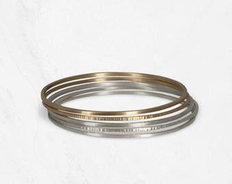 Simple Stacking Bangles | Minimal Gold Bracelet | SOLSTICE Gold Bangles
