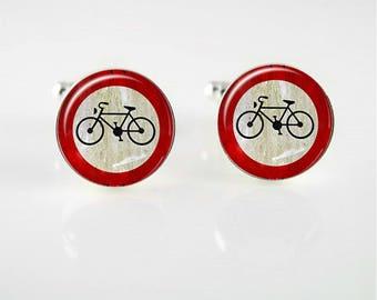 Vintage Bicycle Cuff Links
