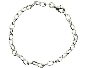 1 x silver long.22cm Support adjustable chain Bracelet