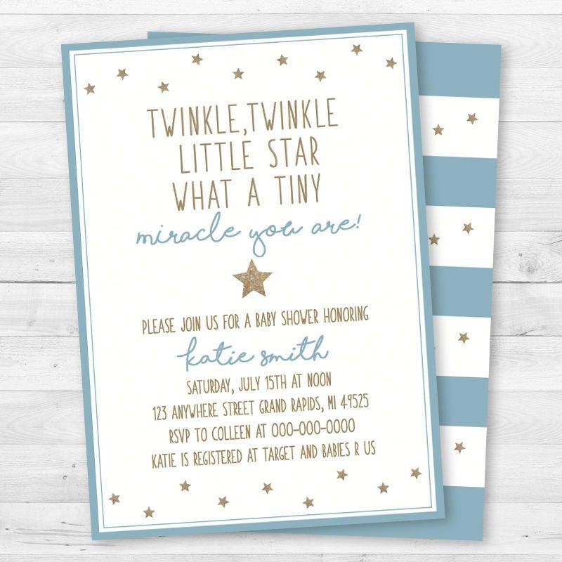 Twinkle, Twinkle Little Star Baby Shower Invitation