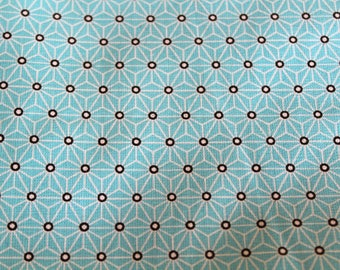 Fabric coated graphic 50 x 70 cm turquoise and white