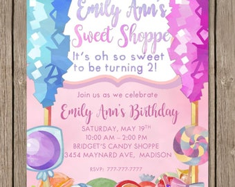 SWEET SHOPPE | Candy Shop Birthday | Candy Birthday | Birthday Party | Sweet Shoppe | Candy Shoppe | Sweet Shop Party | Customizable