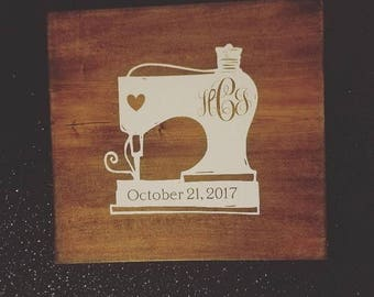Sew In Love - Personalized Wedding or Shower Guestbook