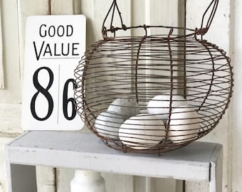A superb French wire egg basket