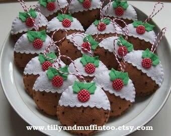 Felt Christmas Pudding Christmas Decoration/Ornament.Christmas Pudding Ornament/Decoration. Felt Christmas Pudding.Kawaii Christmas Pudding.